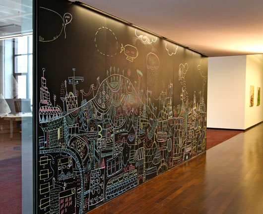 Chalkboard Office. Modern Cave Drawings By Nate Otto Signal V Noise .