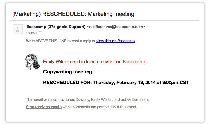 contoh email reschedule meeting
