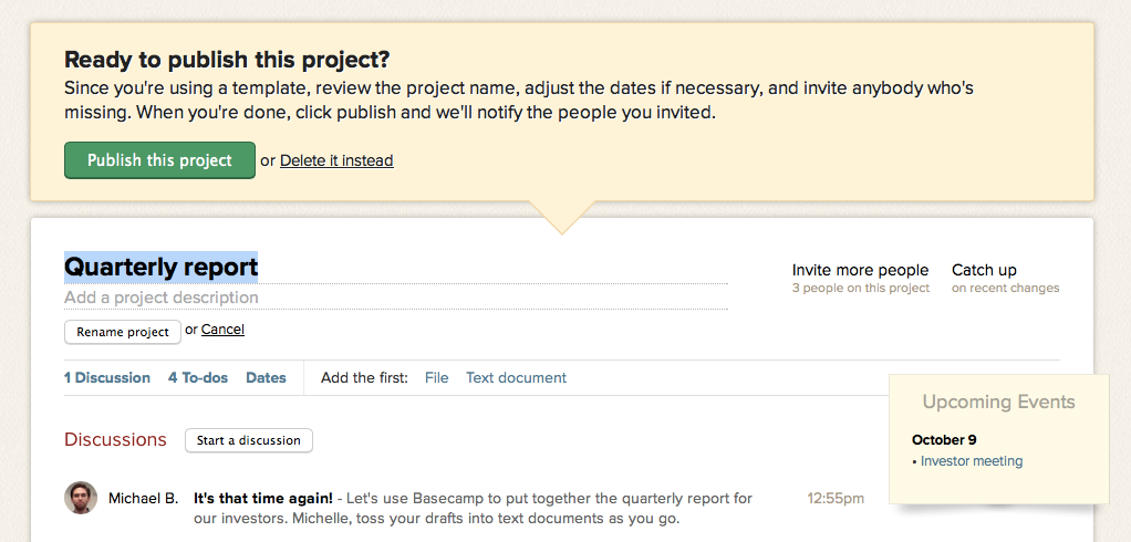 Basecamp just keeps getting better New in Basecamp Project – Project Recap Template