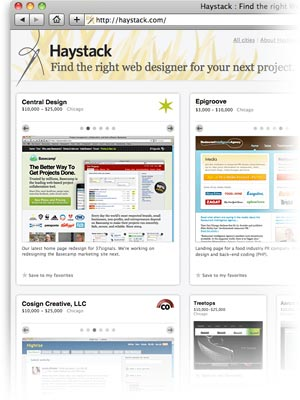 37signals Newsletter Find The Right Web Designer With Haystack