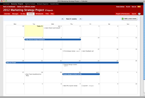 c1a182fc07a 37signals Product Blog: Launch: The Basecamp Calendar